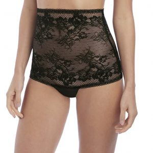 buy the Wacoal Lace to Love High Waist Thong in Black