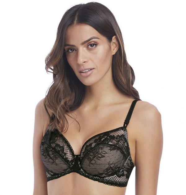 buy the Wacoal Lace to Love Underwire Bra in Black