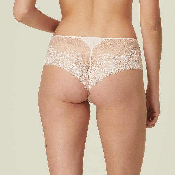 back view of Marie Jo Meryl Luxury Thong in Rose Boudoir