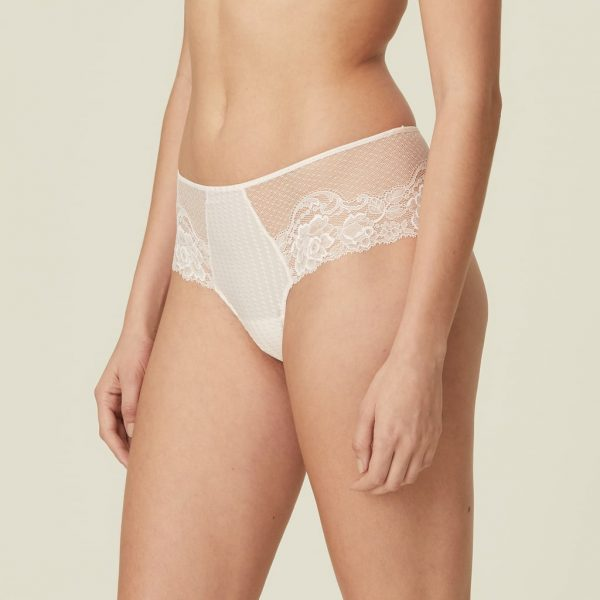 side view of Marie Jo Meryl Luxury Thong in Rose Boudoir