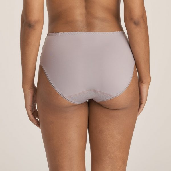 back view of PrimaDonna Candle Night Full Brief in Powder Grey