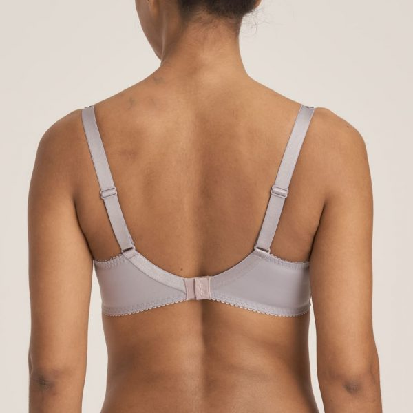 back view of PrimaDonna Candle Night Full Cup Bra in Powder Grey