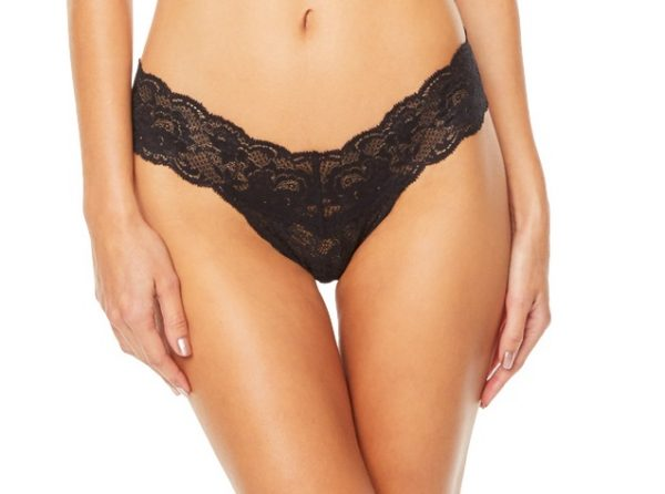 buy the Cosabella Never Say Never Cutie Thong in Black
