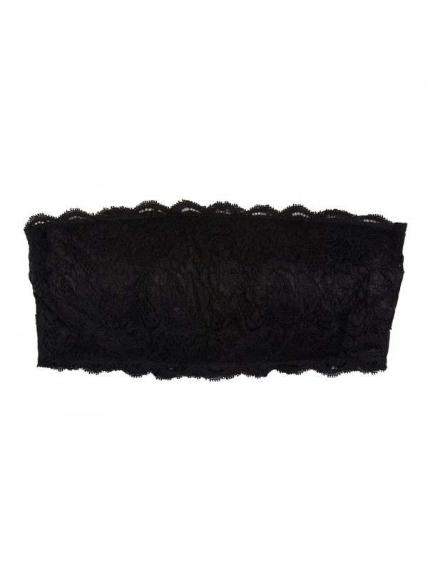 close up of Cosabella Never Say Never Flirtie Bandeau in Black
