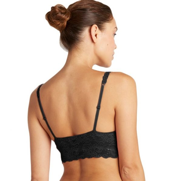 back view of Cosabella Never Say Never Sweetie Bralette in Black