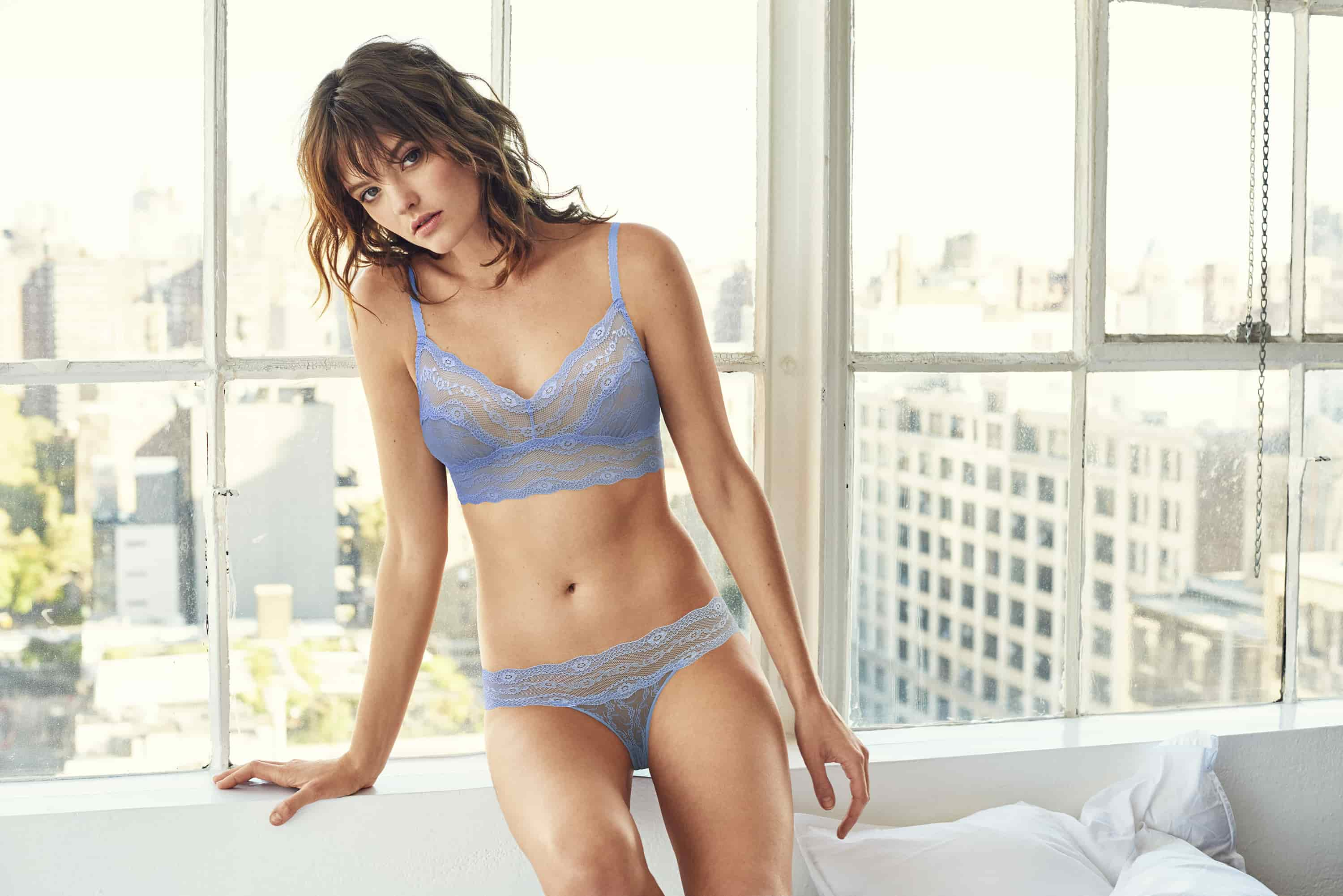 great fit exquisite style good b.tempt'd Lace Kiss Bralette in Serenity - Victoria's Little Bra Shop