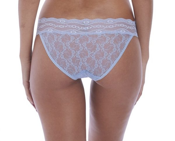 back view of b.tempt'd Lace Kiss Brief in Serenity