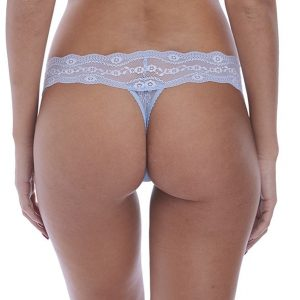 back view of b.tempt'd Lace Kiss Thong in Serenity