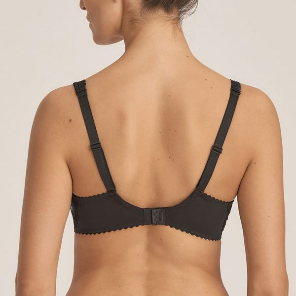 back view of PrimaDonna Midnight Garden Full Cup Bra in Black