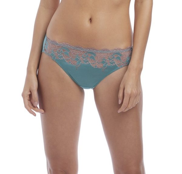 buy the Wacoal Lace Affair Brief in Pagoda Blue