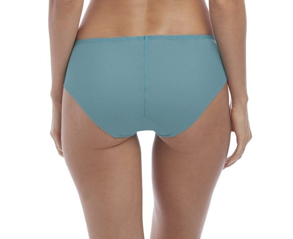 back view of Wacoal Lace Affair Brief in Pagoda Blue