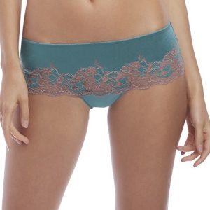 buy the Wacoal Lace Affair Tanga in Pagoda Blue