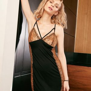 buy the Vanilla Night and Day Chemise 3302 in Black Leopard
