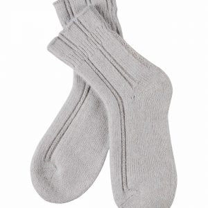 close up of Falke Bedsocks in Silver