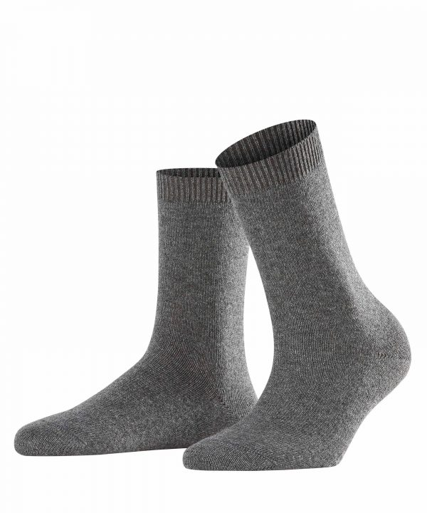 buy the Falke Cosy Wool Socks in Grey Mix