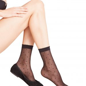 buy the Falke Dot Anklets in Black