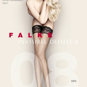 Buy the Falke Invisible Deluxe 8 DEN Stay Ups in Black