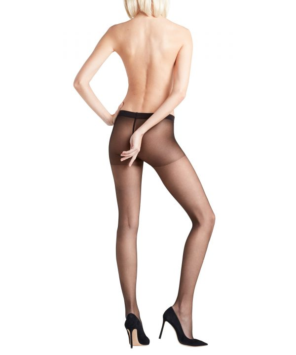 back view of Falke Invisible Deluxe 8 DEN Tights in Black