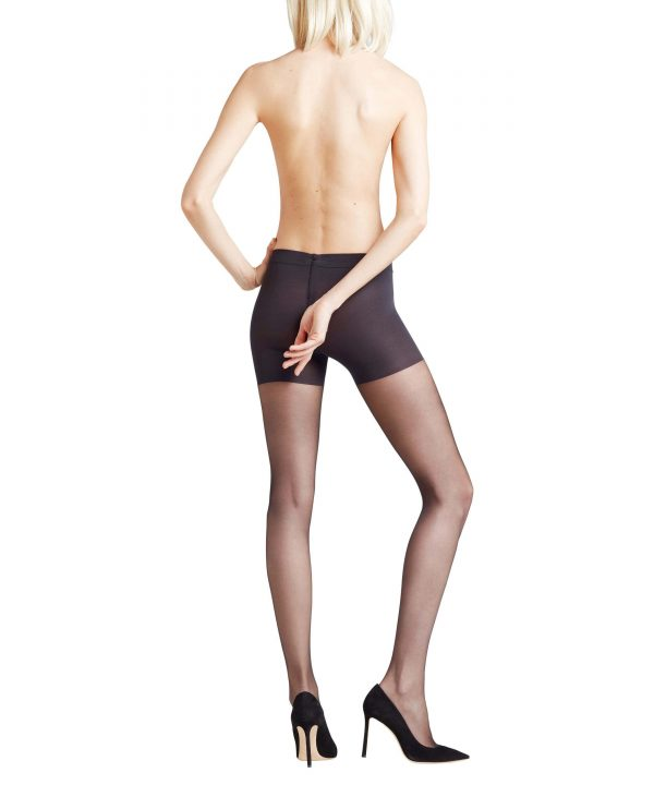 back view of Falke Invisible Deluxe Shaping 8 DEN Tights in Black