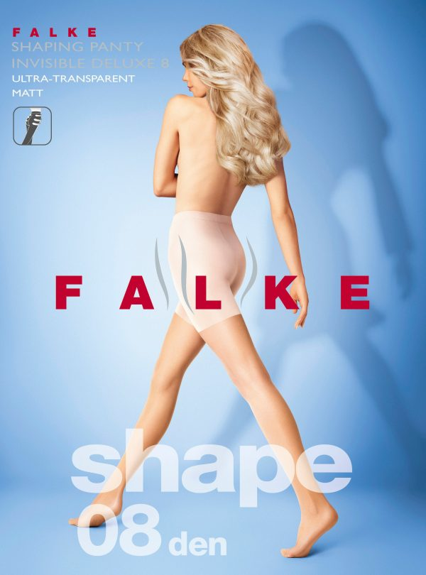 buy teh Falke Invisible Deluxe Shaping 8 DEN Tights in Black