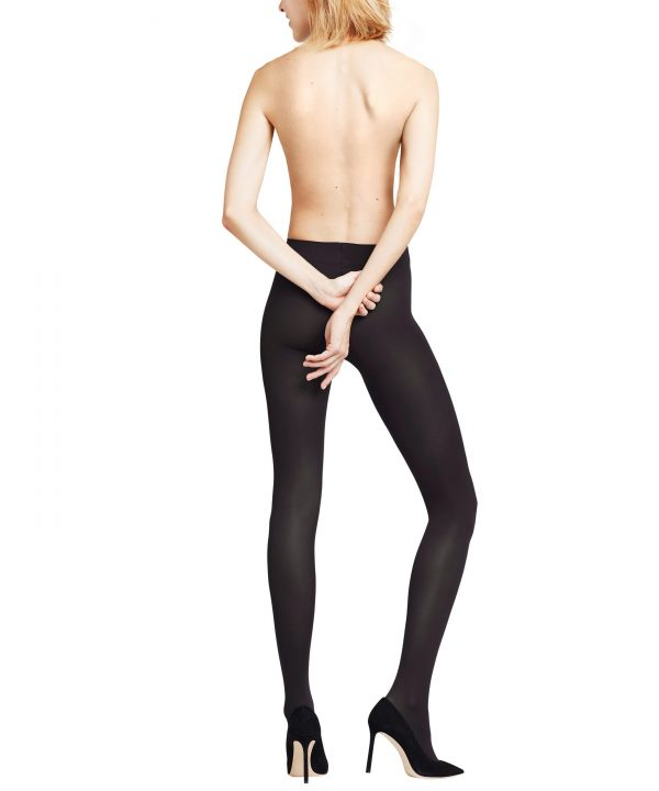 back view of Falke Pure Matt 50 DEN Tights in Black