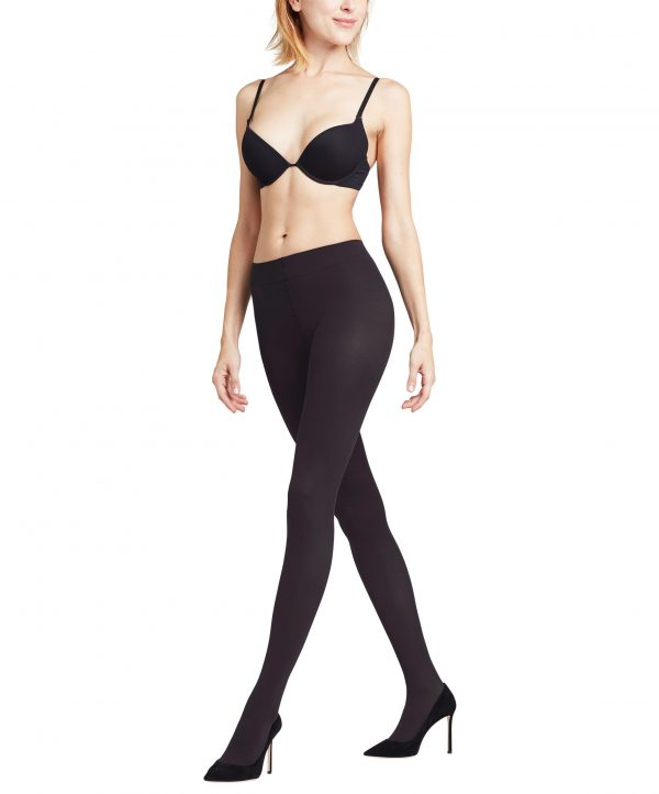 side view of Falke Pure Matt 50 DEN Tights in Black