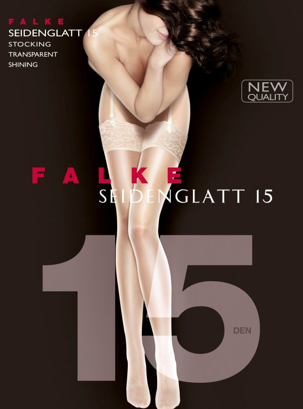 buy the Falke Seidenglatt 15 DEN Stocking in Black