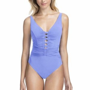 buy the Gottex Profile Date Night V-Neck Swimsuit in Lavender