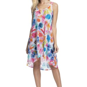 buy the Gottex Profile Splash Mesh Dress in Multi
