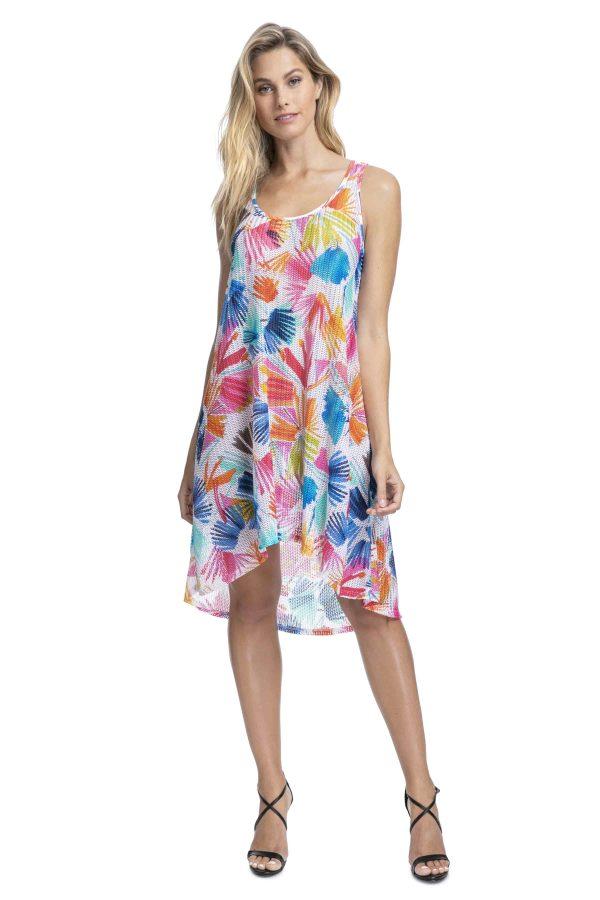 buy the Gottex Profile Splash Mesh Dress in Multi