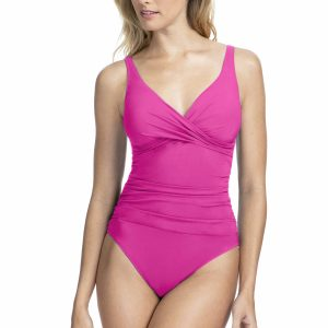 buy the Gottex Profile Tutti Frutti Wrap Swimsuit in Fuchsia
