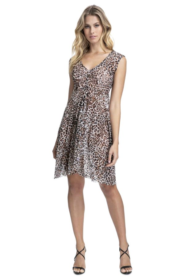buy the Gottex Profile Wild Thing Mesh Dress in Leopard