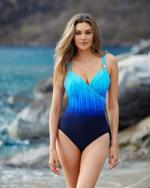 buy the Miraclesuit Belle Trois Siren Swimsuit in Twilight Blue