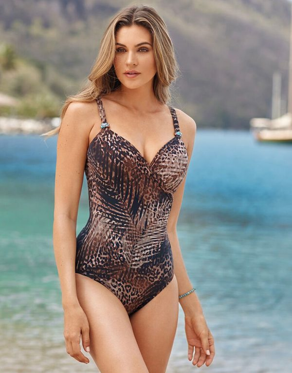 buy the Miraclesuit Tigris Siren Swimsuit in Savannah Brown