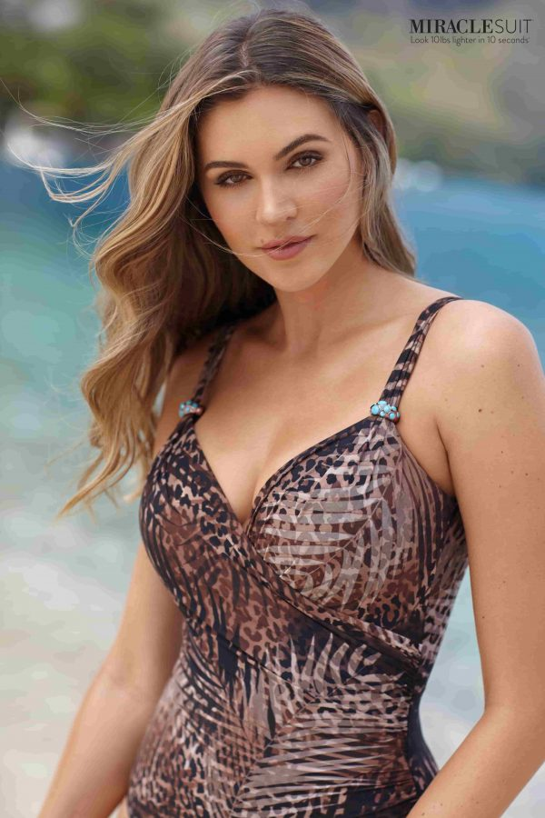 Miraclesuit Tigris Siren Swimsuit in Savannah Brown