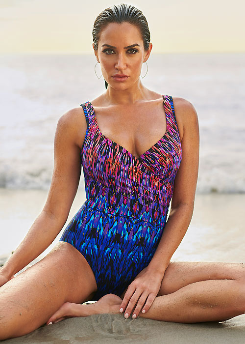 buy the Miraclesuit Vesuvio It's A Wrap Swimsuit in Multi