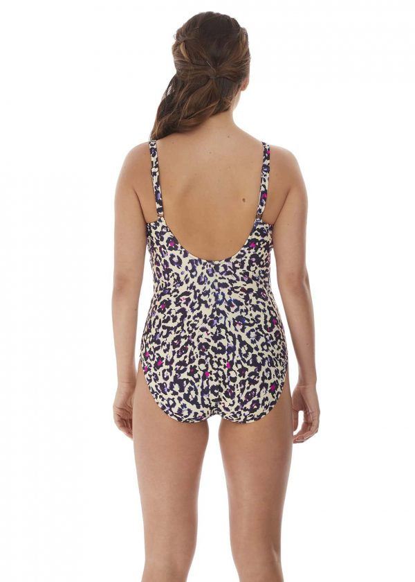 back view of Fantasie Bonito V-Neck Swimsuit in Amethyst