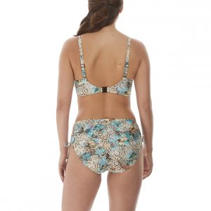 back view of Fantasie Manila Bikini Set in Iced Aqua