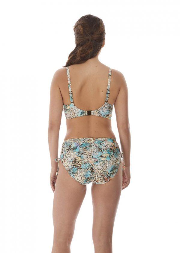 back view of Fantasie Manila Bikini Set in Iced Aqua