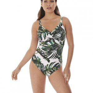 Fantasie Palm Valley Twist Front Swimsuit in Fern