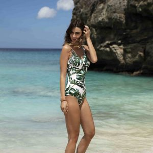 buy the Fantasie Palm Valley Twist Front Swimsuit in Fern