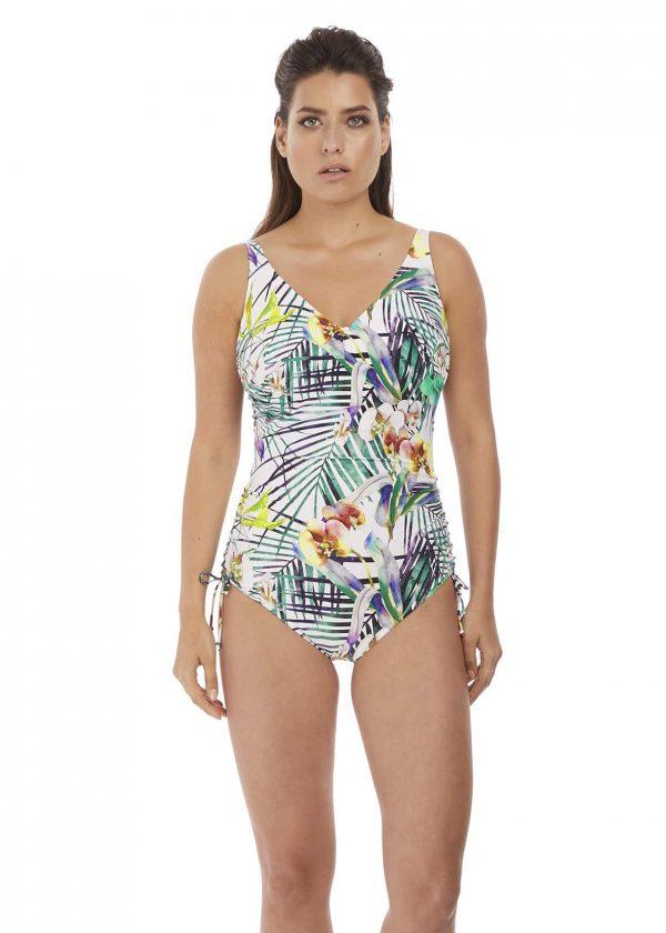 buy the Fantasie Playa Blanca Adjustable Leg Swimsuit in Multi