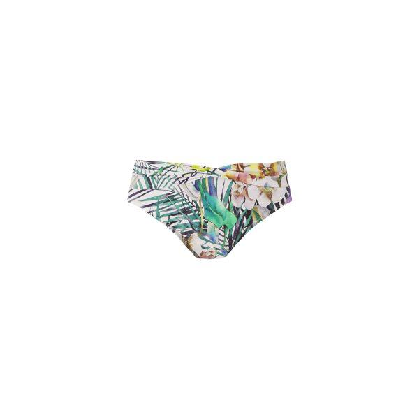 close up of Fantasie Playa Blanca Bikini Set in Multi classic twist bikini brief