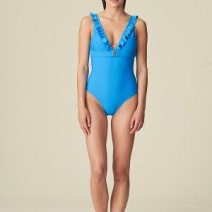 buy the Marie Jo Swim Aurelie Swimsuit in Blu Cina