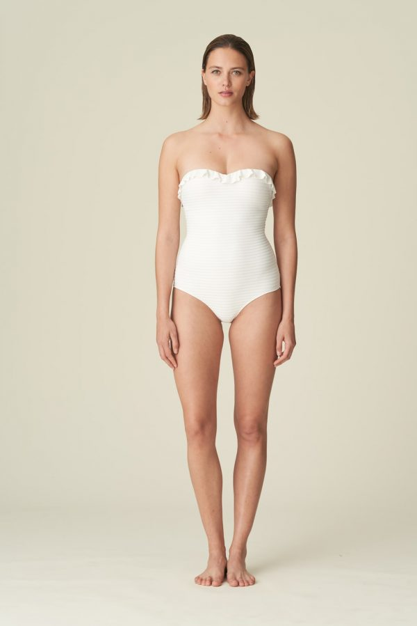 Marie Jo Swim Celine Strapless Swimsuit in Natural