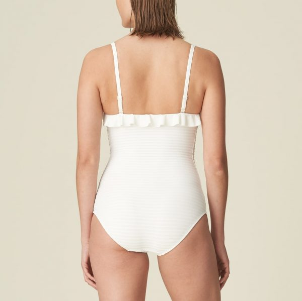 back view of Marie Jo Swim Celine Strapless Swimsuit in Natural