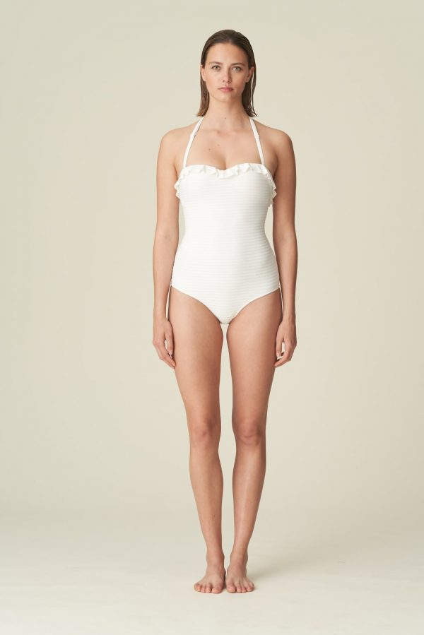 Marie Jo Swim Celine Strapless Swimsuit in Natural with straps
