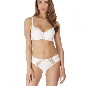 Wacoal Lisse Spacer Bra in White with brief