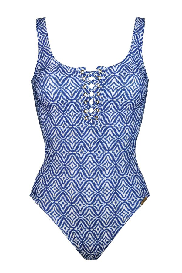 buy the Watercult Indigo Escape Swimsuit in Washed Indigo