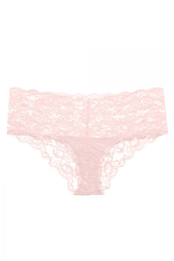 close up of Cosabella Never Say Never Hottie Hotpant in Pink Lily